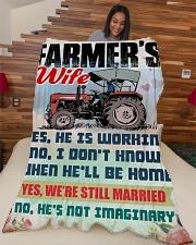 "Farmer's Wife Large Fleece Blanket - 60"" x 80"" aos-coral-fleece-blanket-60x80-lifestyle-front-04"