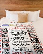 "TRUCKER'S GIRLFRIEND - PREMIUM Large Fleece Blanket - 60"" x 80"" aos-coral-fleece-blanket-60x80-lifestyle-front-02"