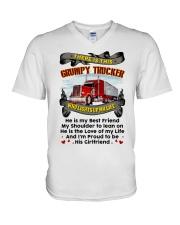 Trucker's Girl V-Neck T-Shirt thumbnail