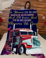 "Trucker's Girl Premium Large Fleece Blanket - 60"" x 80"" aos-coral-fleece-blanket-60x80-lifestyle-front-04"