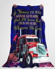 "Trucker's Girl Premium Large Fleece Blanket - 60"" x 80"" aos-coral-fleece-blanket-60x80-lifestyle-front-10"