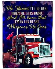 """Trucker's Girl Premium Large Fleece Blanket - 60"""" x 80"""" front"""