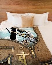 "Lineman - Premium Large Fleece Blanket - 60"" x 80"" aos-coral-fleece-blanket-60x80-lifestyle-front-02"