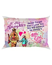 GIFT FOR A FIREFIGHTER'S DAUGHTER - PREMIUM Rectangular Pillowcase front