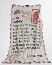 "Gift For Trucker Premium Large Fleece Blanket - 60"" x 80"" aos-coral-fleece-blanket-60x80-lifestyle-front-10"