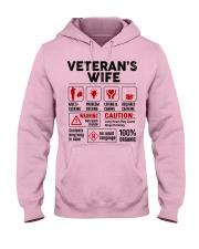 Veteran's Wife Hooded Sweatshirt front