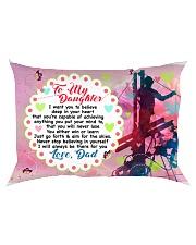 GIFT FOR A LINEMAN'S DAUGHTER - PREMIUM Rectangular Pillowcase back