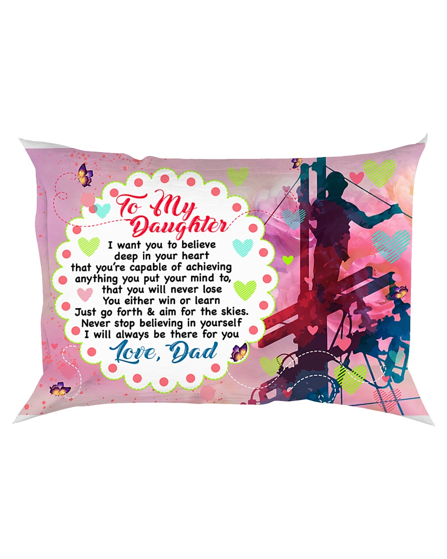 GIFT FOR A LINEMAN'S DAUGHTER - PREMIUM Rectangular Pillowcase