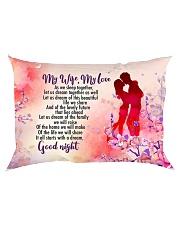 GIFT FOR A WIFE - PREMIUM Rectangular Pillowcase back