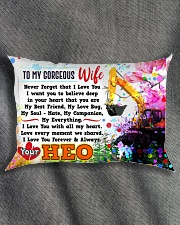 GIFT FOR AN HEO'S WIFE - PREMIUM Rectangular Pillowcase aos-pillow-rectangle-front-lifestyle-1