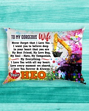 GIFT FOR AN HEO'S WIFE - PREMIUM Rectangular Pillowcase aos-pillow-rectangle-front-lifestyle-5