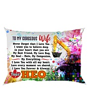 GIFT FOR AN HEO'S WIFE - PREMIUM Rectangular Pillowcase back