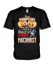 MACHINIST'S  GIRL V-Neck T-Shirt thumbnail