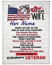 """Veteran's Wife Large Fleece Blanket - 60"""" x 80"""" front"""