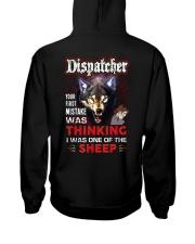 Dispatcher - I'm the Wolf Hooded Sweatshirt back