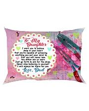 GIFT FOR AN ELECTRICAN'S DAUGHTER - PREMIUM Rectangular Pillowcase back
