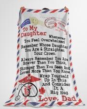 "NURSE DAUGHTER  Premium Large Fleece Blanket - 60"" x 80"" aos-coral-fleece-blanket-60x80-lifestyle-front-10"