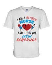 RETIRED NURSE V-Neck T-Shirt tile