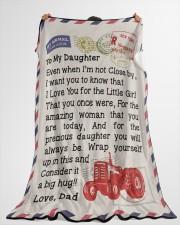 "Farmer's Daughter  Premium Large Fleece Blanket - 60"" x 80"" aos-coral-fleece-blanket-60x80-lifestyle-front-10"
