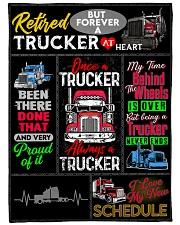 """Retired Trucker Premium Large Fleece Blanket - 60"""" x 80"""" front"""