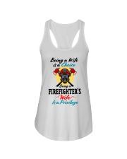 FIREFIGHTER'S WIFE Ladies Flowy Tank tile