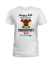 FIREFIGHTER'S WIFE Ladies T-Shirt tile