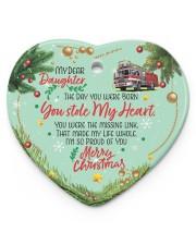 Firefighter's Daughter - Heart ornament - single (porcelain) front