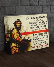 Firefighter- Premium 14x11 Gallery Wrapped Canvas Prints aos-canvas-pgw-14x11-lifestyle-front-11