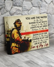 Firefighter- Premium 14x11 Gallery Wrapped Canvas Prints aos-canvas-pgw-14x11-lifestyle-front-13