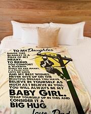 "Lineman's Daughter - Black Friday Sale Large Fleece Blanket - 60"" x 80"" aos-coral-fleece-blanket-60x80-lifestyle-front-02"