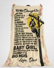 "Lineman's Daughter - Black Friday Sale Large Fleece Blanket - 60"" x 80"" aos-coral-fleece-blanket-60x80-lifestyle-front-10"