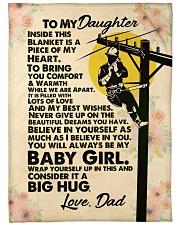 "Lineman's Daughter - Black Friday Sale Large Fleece Blanket - 60"" x 80"" front"