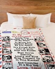 "TRUCKER'S GIRLFRIEND  Premium Large Fleece Blanket - 60"" x 80"" aos-coral-fleece-blanket-60x80-lifestyle-front-02"