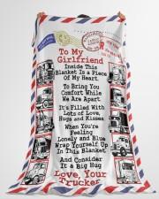 "TRUCKER'S GIRLFRIEND  Premium Large Fleece Blanket - 60"" x 80"" aos-coral-fleece-blanket-60x80-lifestyle-front-10"