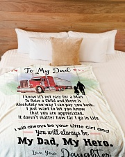 """Gift for a Trucker- Black Friday Sale Large Fleece Blanket - 60"""" x 80"""" aos-coral-fleece-blanket-60x80-lifestyle-front-02"""