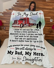 """Gift for a Trucker- Black Friday Sale Large Fleece Blanket - 60"""" x 80"""" aos-coral-fleece-blanket-60x80-lifestyle-front-04"""