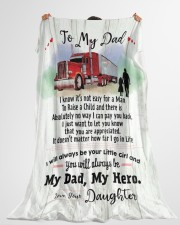 """Gift for a Trucker- Black Friday Sale Large Fleece Blanket - 60"""" x 80"""" aos-coral-fleece-blanket-60x80-lifestyle-front-10"""