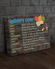 QUILTER'S CODE  - Premium 14x11 Gallery Wrapped Canvas Prints aos-canvas-pgw-14x11-lifestyle-front-11