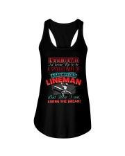Old Lineman's Wife Ladies Flowy Tank thumbnail