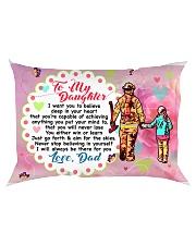 GIFT FOR A FIREFIGHTER'S DAUGHTER - PREMIUM Rectangular Pillowcase back