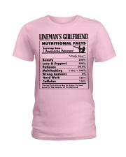 Lineman's Girlfriend Ladies T-Shirt tile