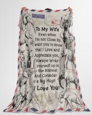 "GIFT FOR WIFE- PREMIUM Large Fleece Blanket - 60"" x 80"" aos-coral-fleece-blanket-60x80-lifestyle-front-10"