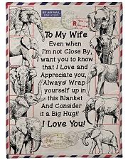 "GIFT FOR WIFE- PREMIUM Large Fleece Blanket - 60"" x 80"" front"