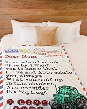 "Farmer's Mom Premium Large Fleece Blanket - 60"" x 80"" aos-coral-fleece-blanket-60x80-lifestyle-front-02"