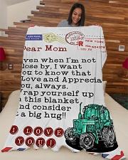 "Farmer's Mom Premium Large Fleece Blanket - 60"" x 80"" aos-coral-fleece-blanket-60x80-lifestyle-front-04"