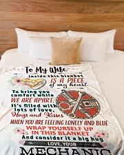 """MECHANIC'S WIFE- PREMIUM Large Fleece Blanket - 60"""" x 80"""" aos-coral-fleece-blanket-60x80-lifestyle-front-02"""