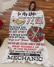 """MECHANIC'S WIFE- PREMIUM Large Fleece Blanket - 60"""" x 80"""" aos-coral-fleece-blanket-60x80-lifestyle-front-04"""