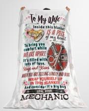 """MECHANIC'S WIFE- PREMIUM Large Fleece Blanket - 60"""" x 80"""" aos-coral-fleece-blanket-60x80-lifestyle-front-10"""