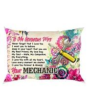 GIFT FOR A MECHANIC'S WIFE - PREMIUM Rectangular Pillowcase back
