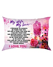 GIFT FOR YOUR WIFE  - PREMIUM Rectangular Pillowcase back